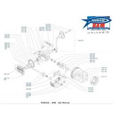 BAM 620M Moulinet Lancer Manuel