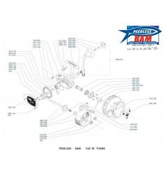 BAM 760 M Titane Moulinet A Soutenir/Traine