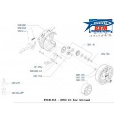 RITM 80 MRT Moulinet Toc Semi-automatique