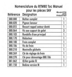 RITM 80 MRT Moulinet Toc Semi-automatique